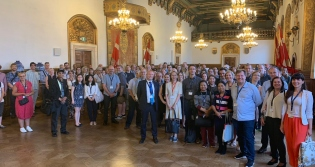 IEA IRC 2019 participants at an evening reception held in Copenhagen city hall
