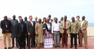 IEA representatives with colleagues at the Rosetta Stone meeting in Dakar, Senegal